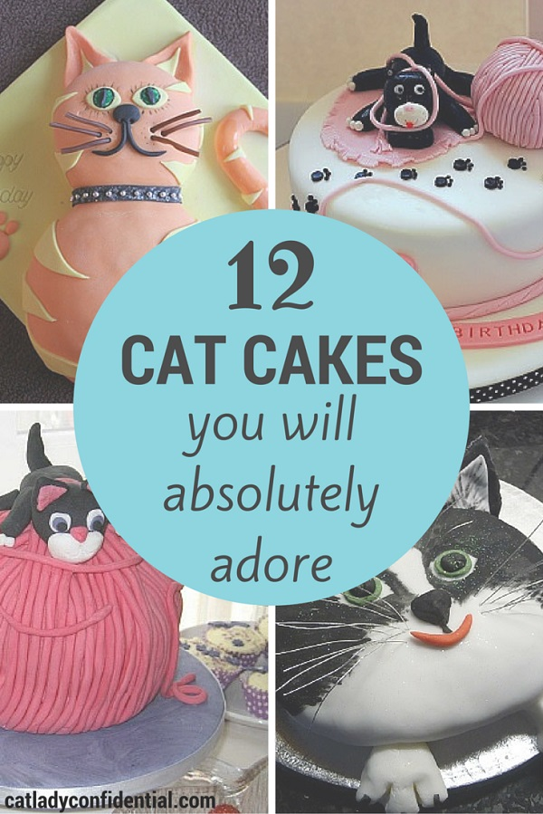 Cool 12 Cat Cakes You Will Absolutely Adore Cat Lady Confidential Personalised Birthday Cards Paralily Jamesorg