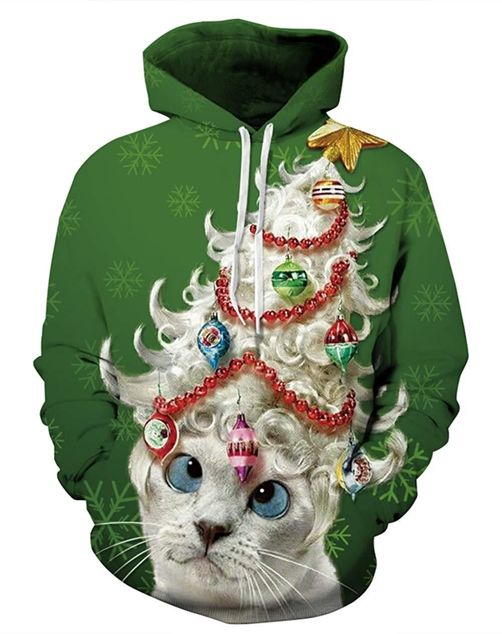 10 Of The Most Creative Cat Themed Ugly Christmas Sweaters Cat Lady Confidential